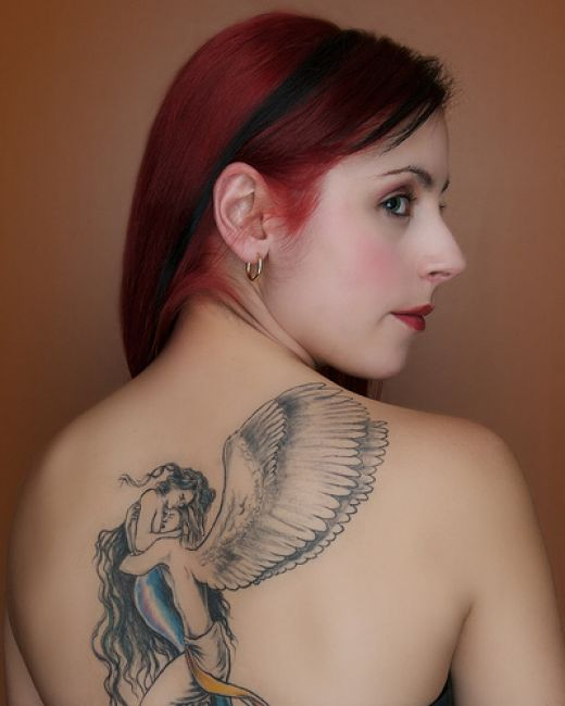 30 Beautiful Angel Tattoos For Girls: 301 Moved Permanently