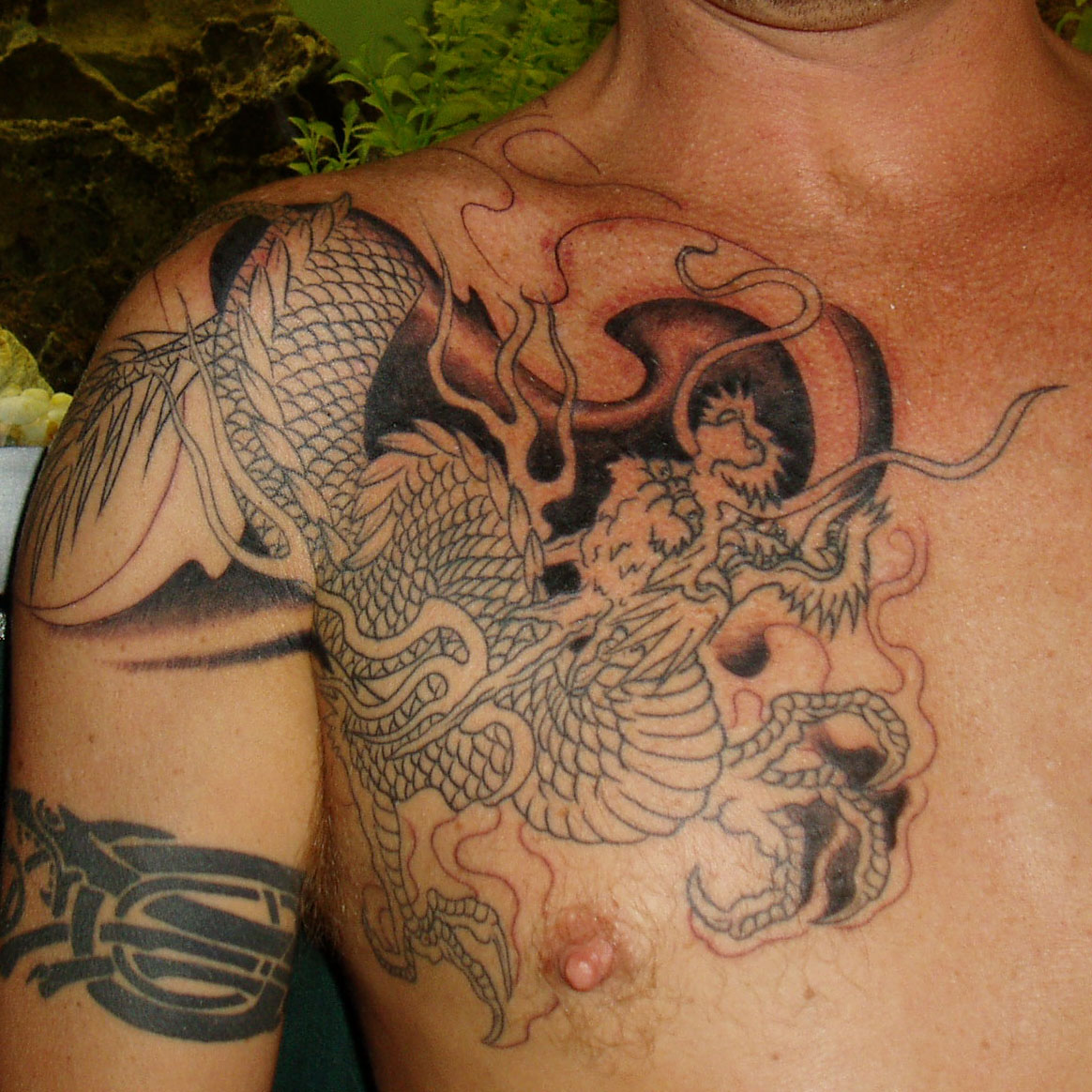 A Japanese koi fish tattoo