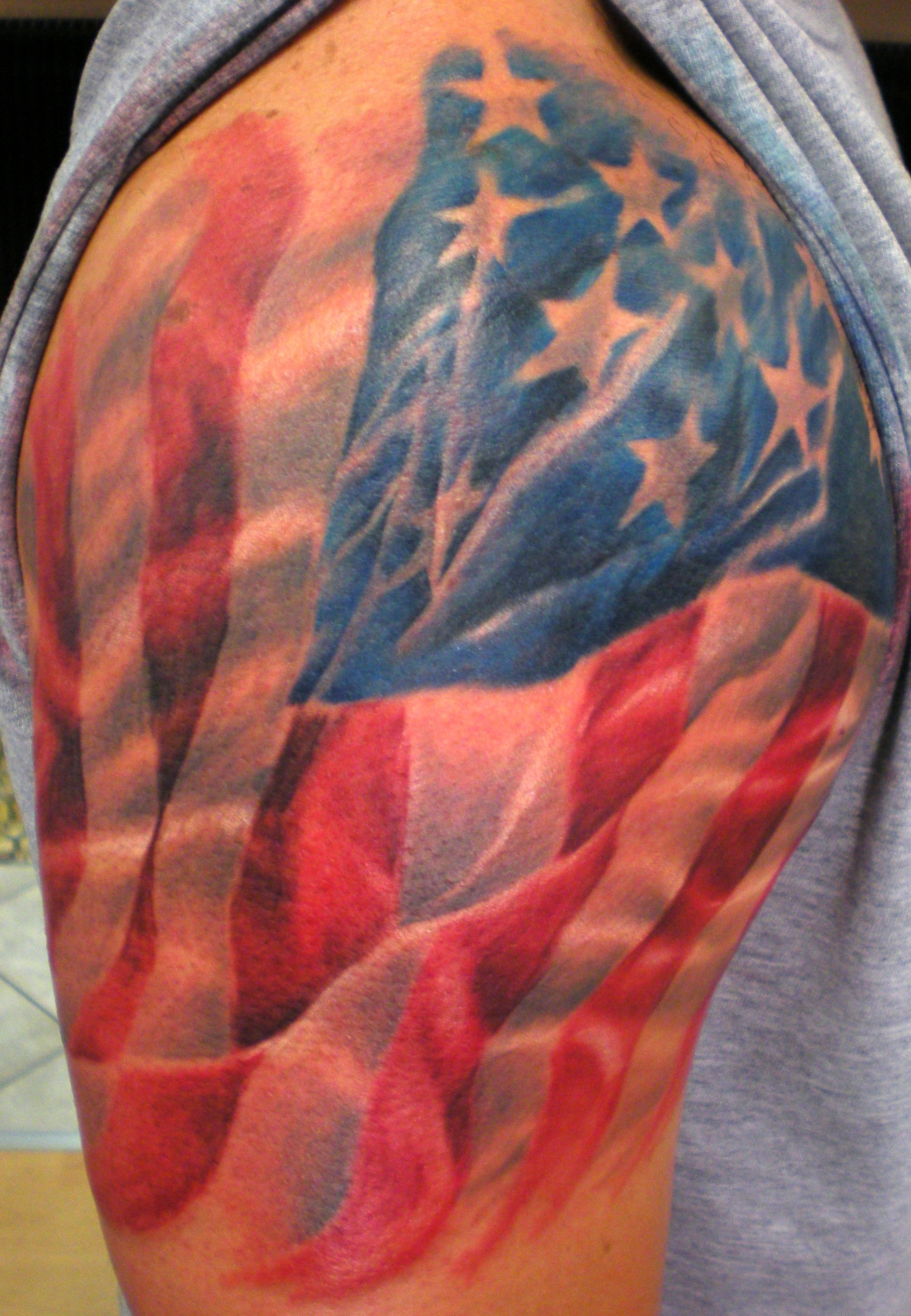 Native american tribal tattoos tattoo art by itattooz for Patriotic tribal tattoos
